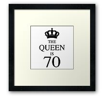 The Queen Is 70 Framed Print