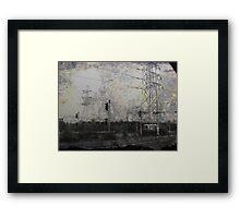 Steel Skeletal Giants Standing. Framed Print