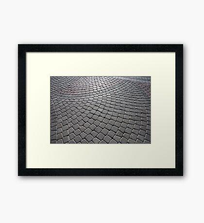 Stone Pavement Framed Print