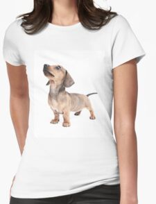 Dachshund Standing Tall Womens Fitted T-Shirt