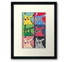 Warhol Pikachu Framed Print