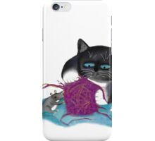 Shredding the Magenta Ball of Yarn iPhone Case/Skin