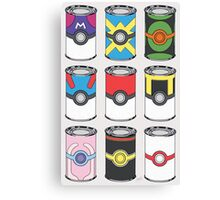 Pokeball Soup Cans Canvas Print