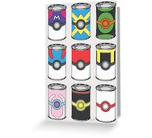 Pokeball Soup Cans Greeting Card
