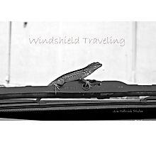 Windshield Traveling Photographic Print