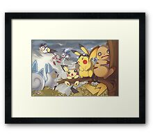 Electric Type Framed Print