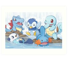 Water Type Art Print