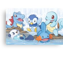 Water Type Canvas Print