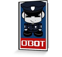 Police Hero'bot 2.1 Greeting Card
