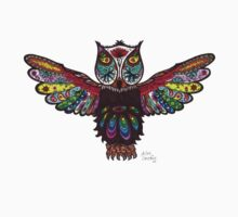 Owl Hoodles  One Piece - Long Sleeve
