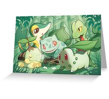 Grass Type Greeting Card