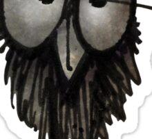 Funny Sleepy Owl on Black Sticker