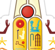 Ramesses the Great's Cartouches with adoring Rekhyt Birds Sticker