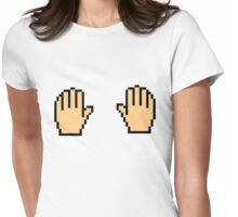 Pointer: Put Your Hands On Womens Fitted T-Shirt