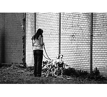 Woman With Dalmatians Photographic Print