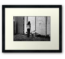 Woman With Dalmatians II Framed Print