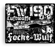 Fw 190 D-9 Canvas Print