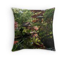 Japanese garden Den Haag Throw Pillow