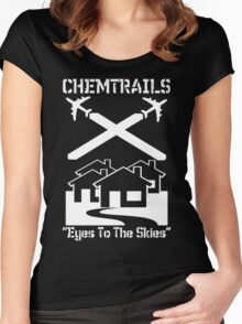 Chemtrails - Eyes To The Skies Women's Fitted Scoop T-Shirt