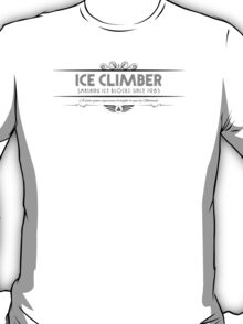 Ice Climber - Art Deco Black T-Shirt