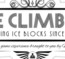 Ice Climber - Art Deco Black Sticker