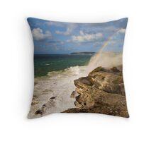 Sea Spray Rainbow Throw Pillow