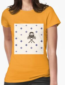 Wish and Work Pattern Womens Fitted T-Shirt
