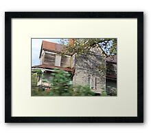haunted house in motion Framed Print