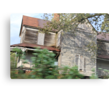 haunted house in motion Metal Print
