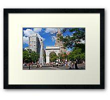 Weekend in Washington Sq., New York Framed Print
