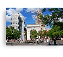 Weekend in Washington Sq., New York Canvas Print