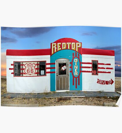 Red Top Diner on Route 66, Edgewood, New Mexico Poster