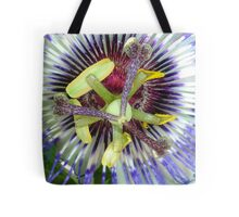 Passion Flower Close Up Tote Bag