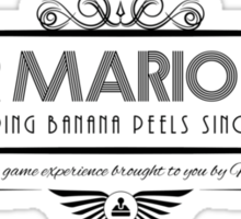 Super Mario Kart - Art Deco Black Sticker