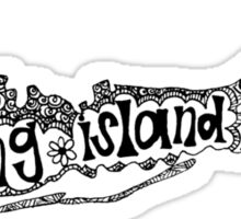 Hipster Long Island Outline Sticker