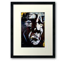 Angry Man Framed Print