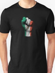 Flag of Mexico on a Raised Clenched Fist  T-Shirt