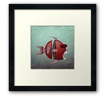 The Metal Aquarium Profile Giant Sea Bass Framed Print