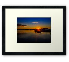 Pictou Sunset Framed Print