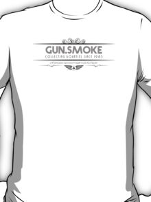 Gun.Smoke - Art Deco Black T-Shirt