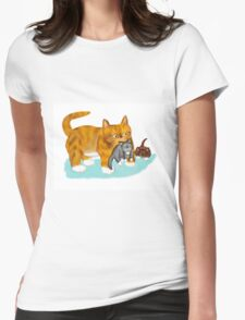 Kitty gets a ride from Momma T-Shirt