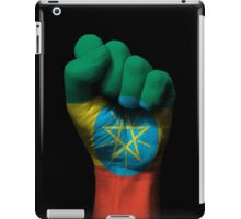 Flag of Ethiopia on a Raised Clenched Fist  iPad Case/Skin