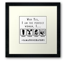 Perfect Woman Framed Print