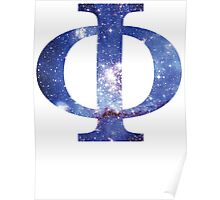 Blue Galaxy | Uppercase Phi Poster