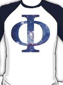 Blue Galaxy | Uppercase Phi T-Shirt