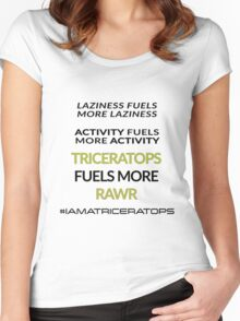 Triceratops Fuels RAWR Women's Fitted Scoop T-Shirt