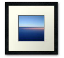 Sunrise from the Plane Framed Print