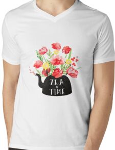 Tea time Mens V-Neck T-Shirt