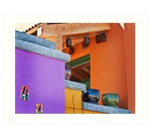 Multi-Colored House Art Print