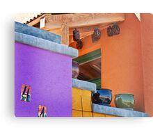 Multi-Colored House Metal Print